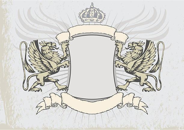 griffin heraldry 막다 - 그리핀 stock illustrations