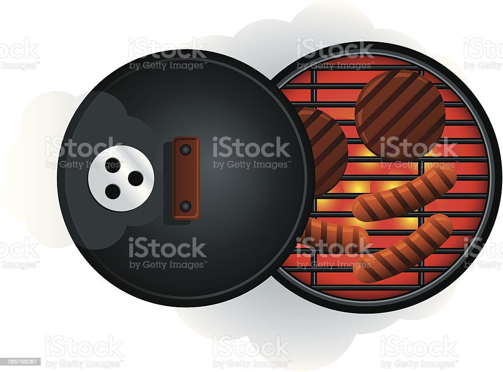 BBQ Grill From Above royalty-free bbq grill from above stock vector art & more images of activity