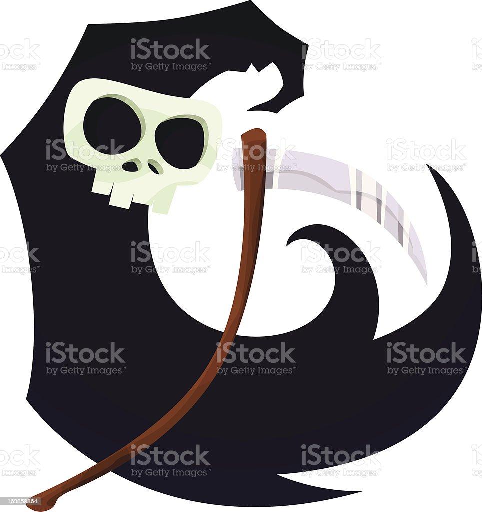 Grim Reaper - Royalty-free Cape - Garment stock vector