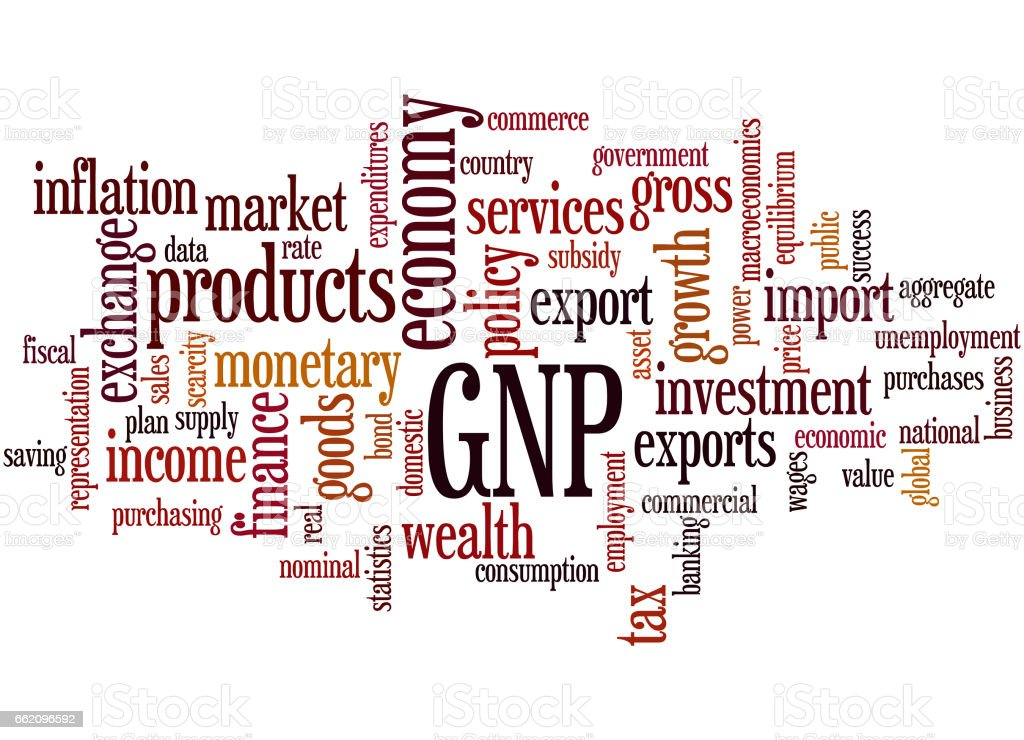 GNP - Gross national product, word cloud concept royalty-free gnp gross national product word cloud concept stock vector art & more images of business