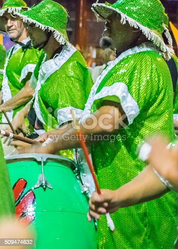 istock Group of Candombe Drummers at Carnival Parade of Uruguay 509474632