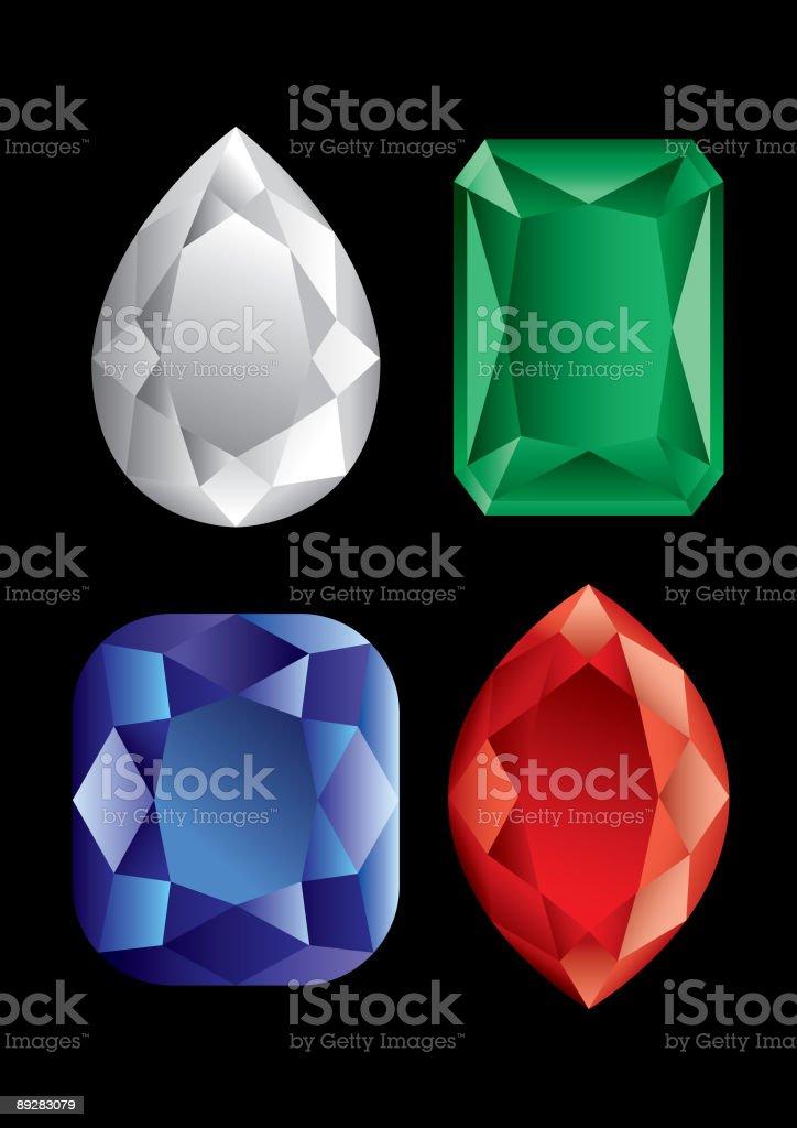 Group of diamonds royalty-free stock vector art