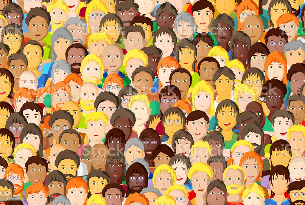 Group of young people, cartoon design vector art illustration