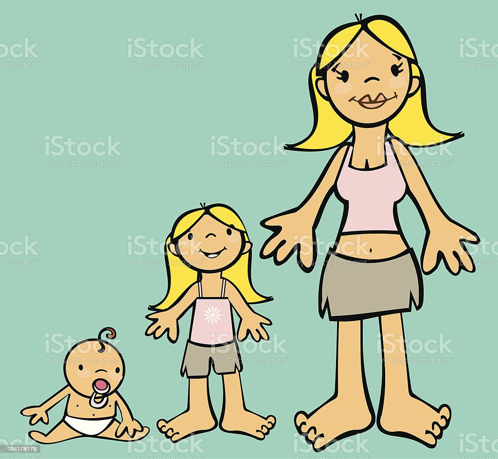 Growing Female royalty-free growing female stock vector art & more images of 12-17 months