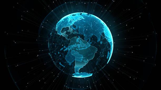 Wachsendes globales Netzwerkkonzept. – Vektorgrafik