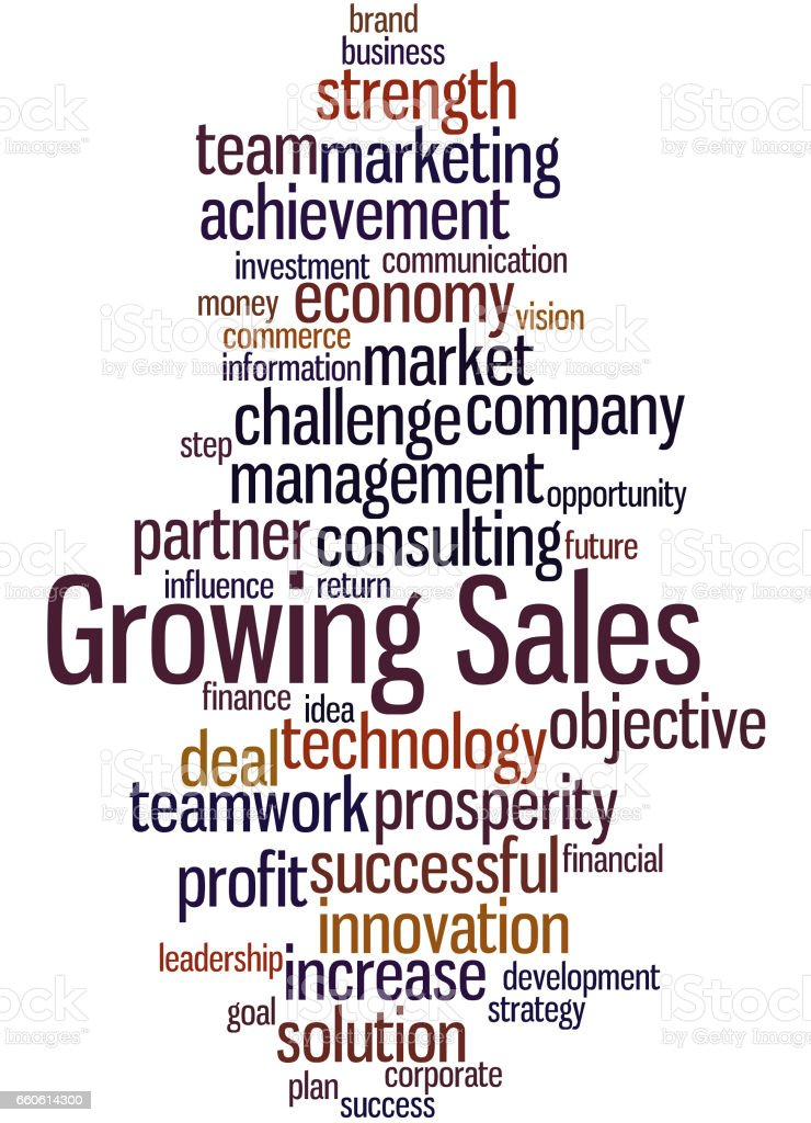 Growing Sales, word cloud concept 6 royalty-free growing sales word cloud concept 6 stock vector art & more images of achievement
