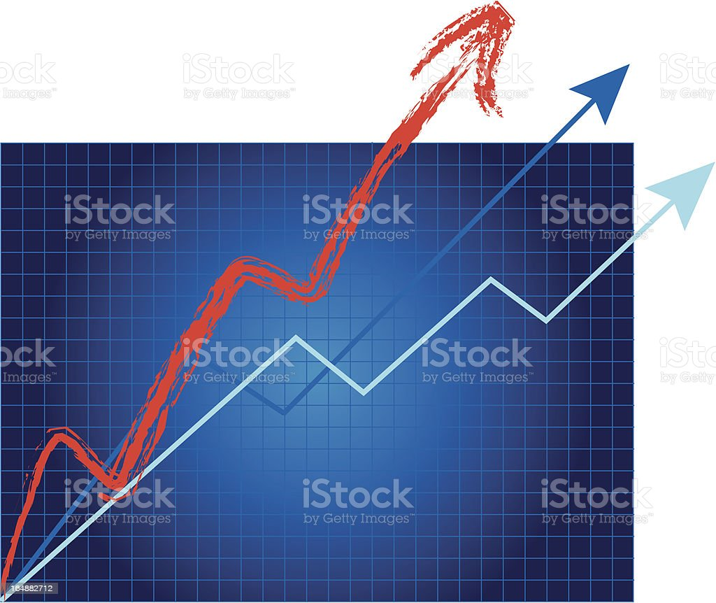Growth Is Off The Charts! vector art illustration