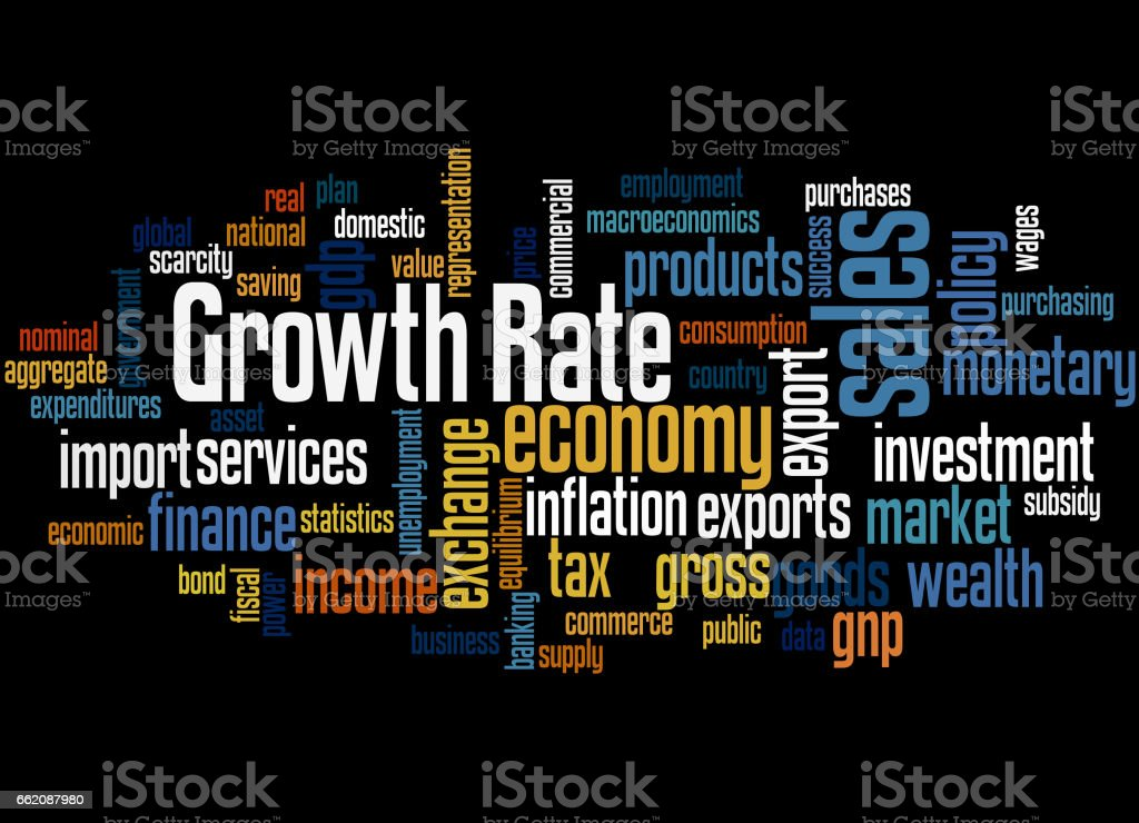 Growth Rate, word cloud concept 4 royalty-free growth rate word cloud concept 4 stock vector art & more images of business