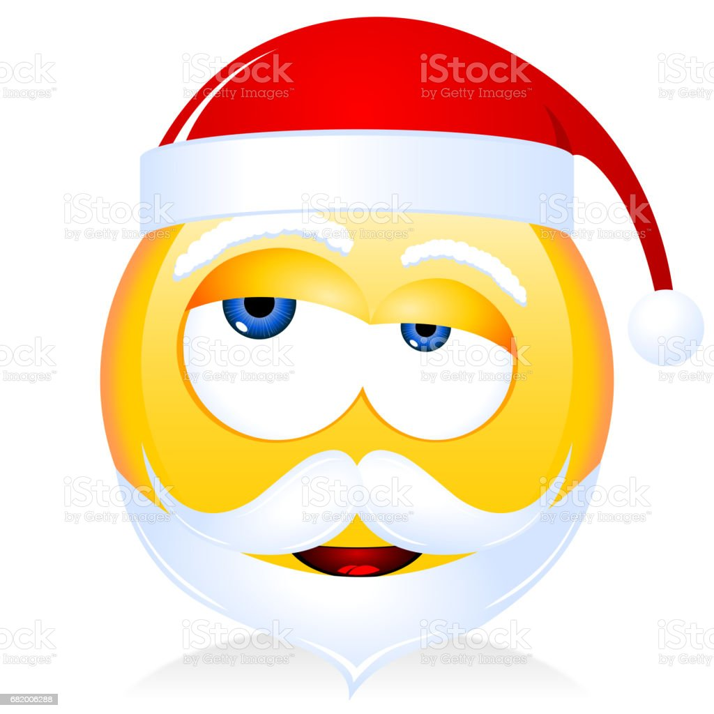 Grumpy Santa Claus emoji vector art illustration