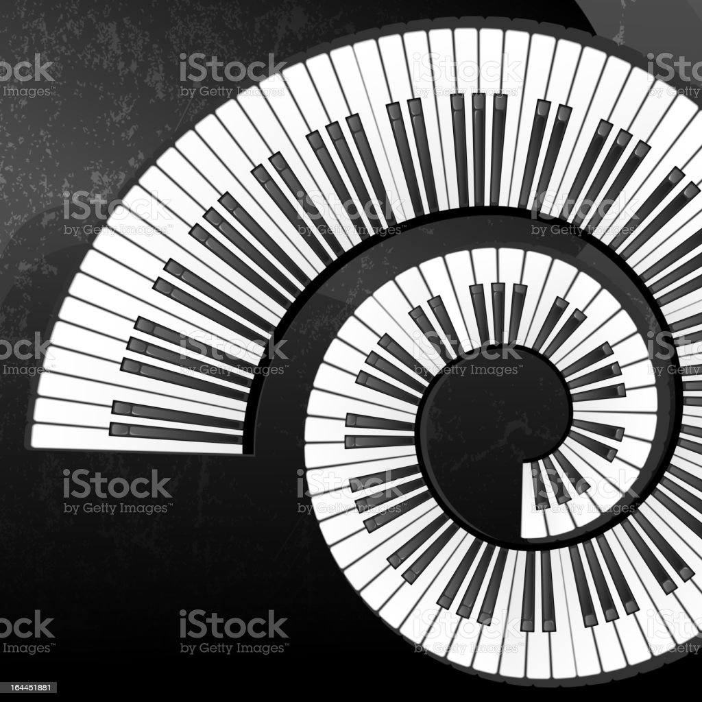 Grunge abstract background with piano keys royalty-free stock vector art