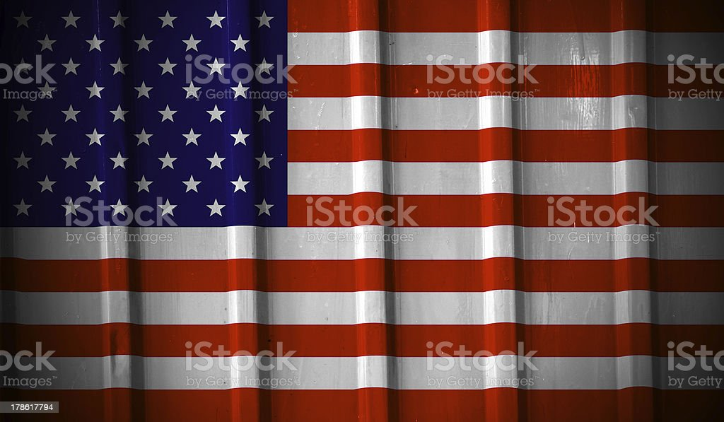 Grunge american flag royalty-free stock vector art