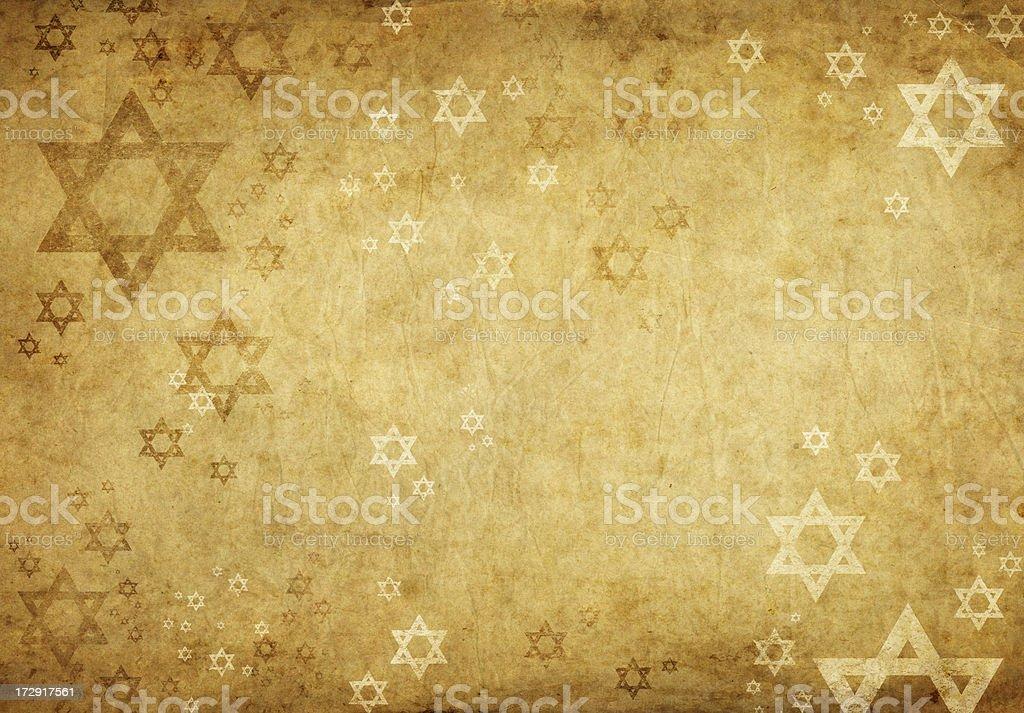 grunge background with david stars vector art illustration