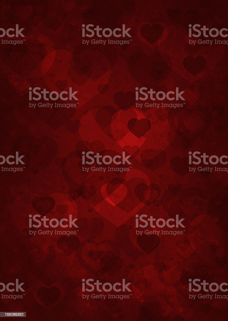 grunge background with hearts royalty-free stock vector art