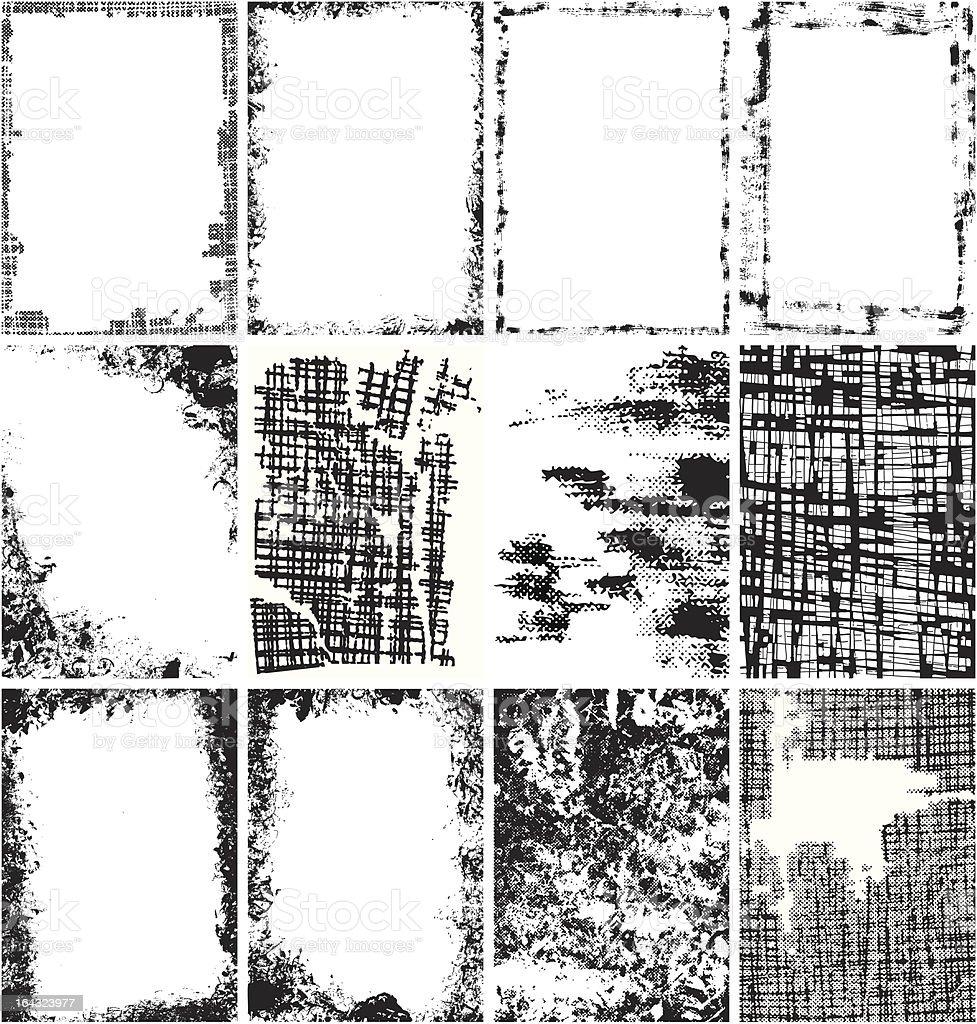 Grunge Backgrounds collection vector art illustration
