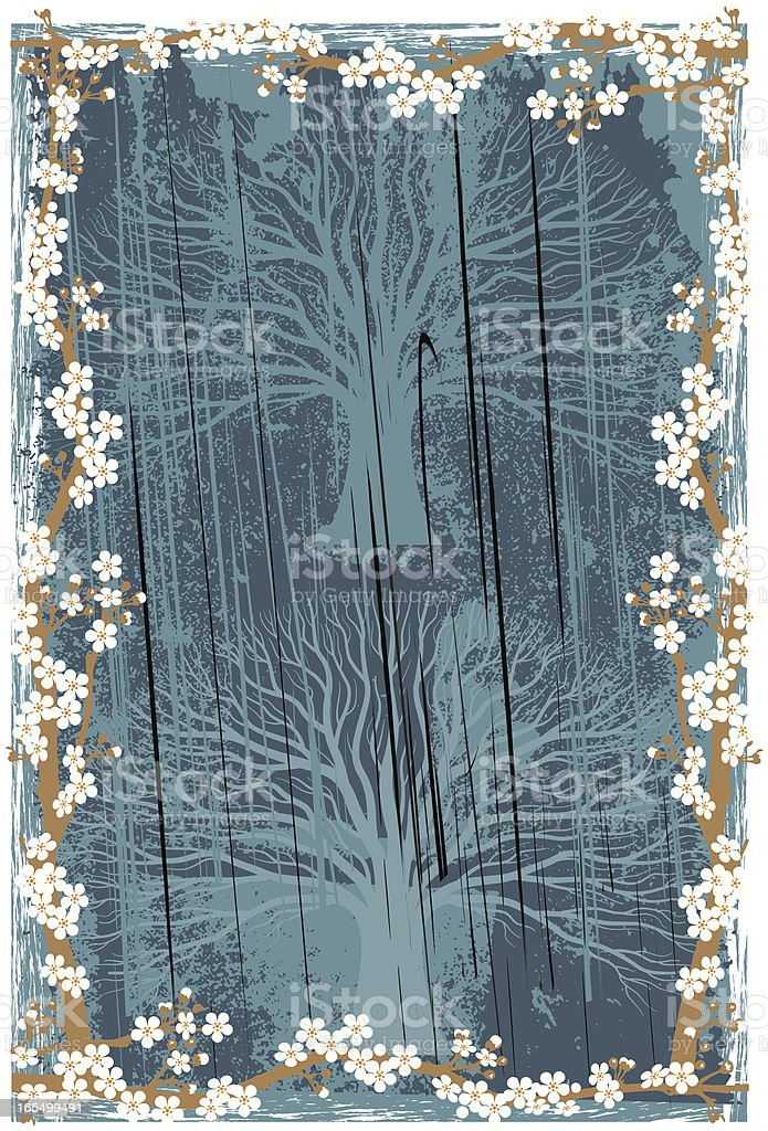 Grunge blossom royalty-free stock vector art