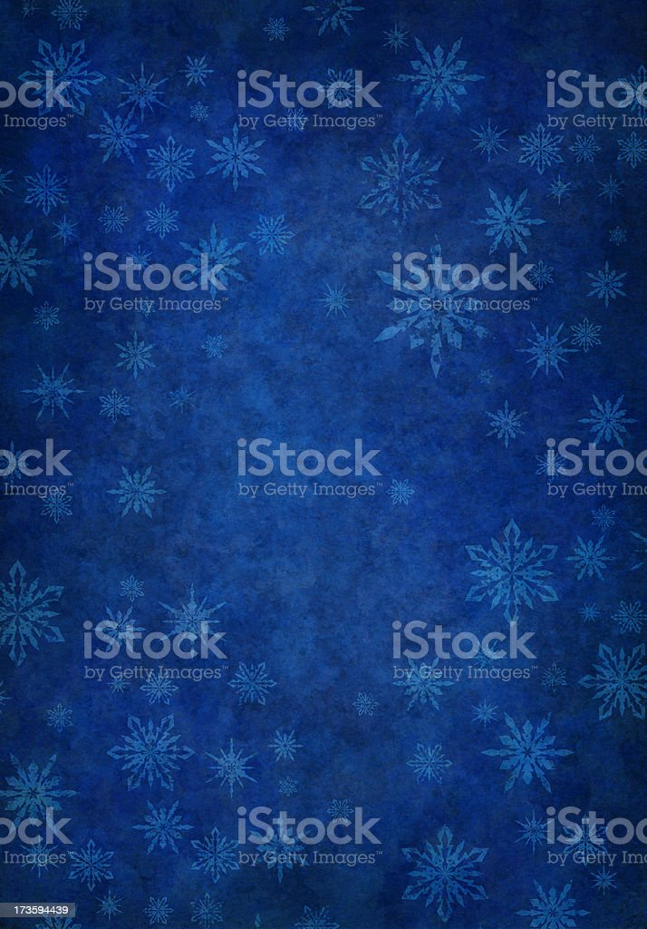 grunge blue snowy background vector art illustration