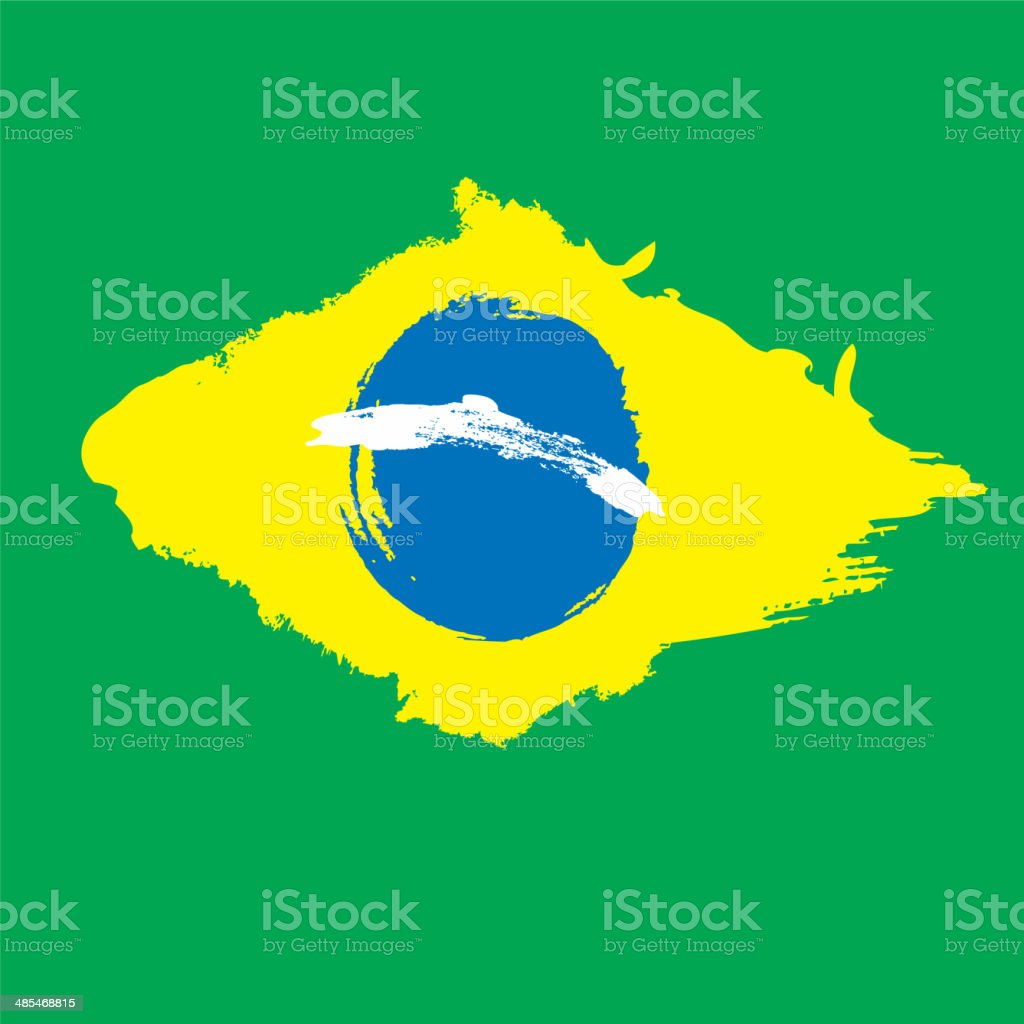 Grunge Brazil flag vector art illustration