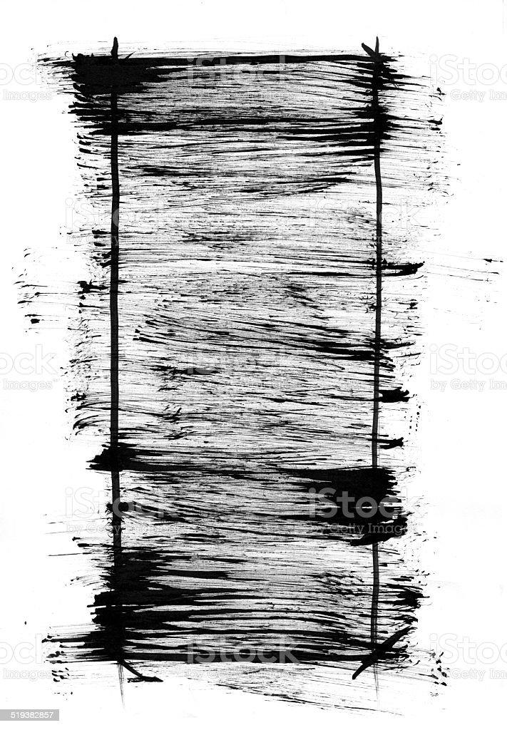 Grunge brush stroke texture frame vector art illustration