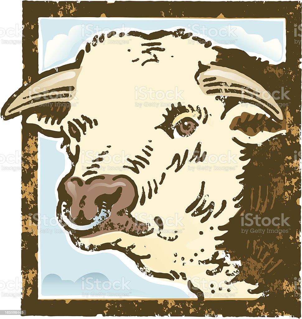 Toro de Grunge ilustración de toro de grunge y más banco de imágenes de agricultura libre de derechos
