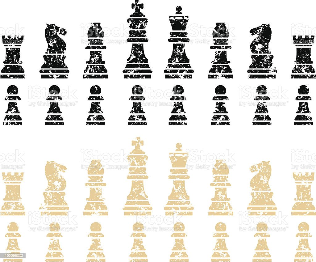 Grunge chess pieces royalty-free grunge chess pieces stock vector art & more images of bishop - chess