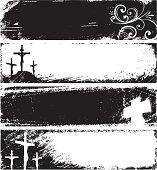 Grunge christian banner