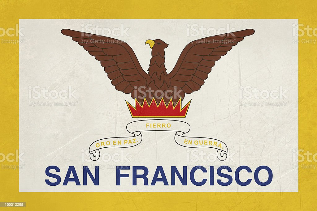 Grunge city of San Francisco flag royalty-free stock vector art