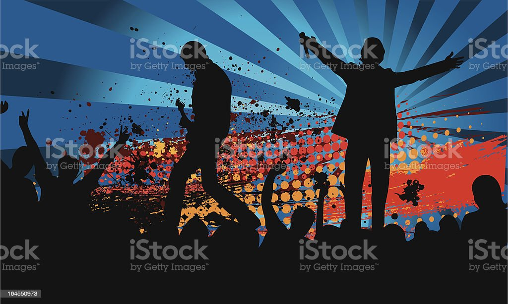 Grunge concert royalty-free stock vector art