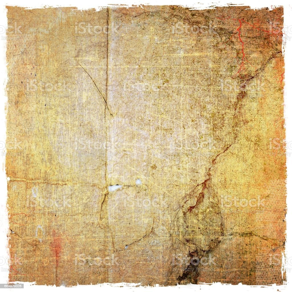 Grunge Cracked Wall Texture Background Sepia Tones Stock Vector Art ...