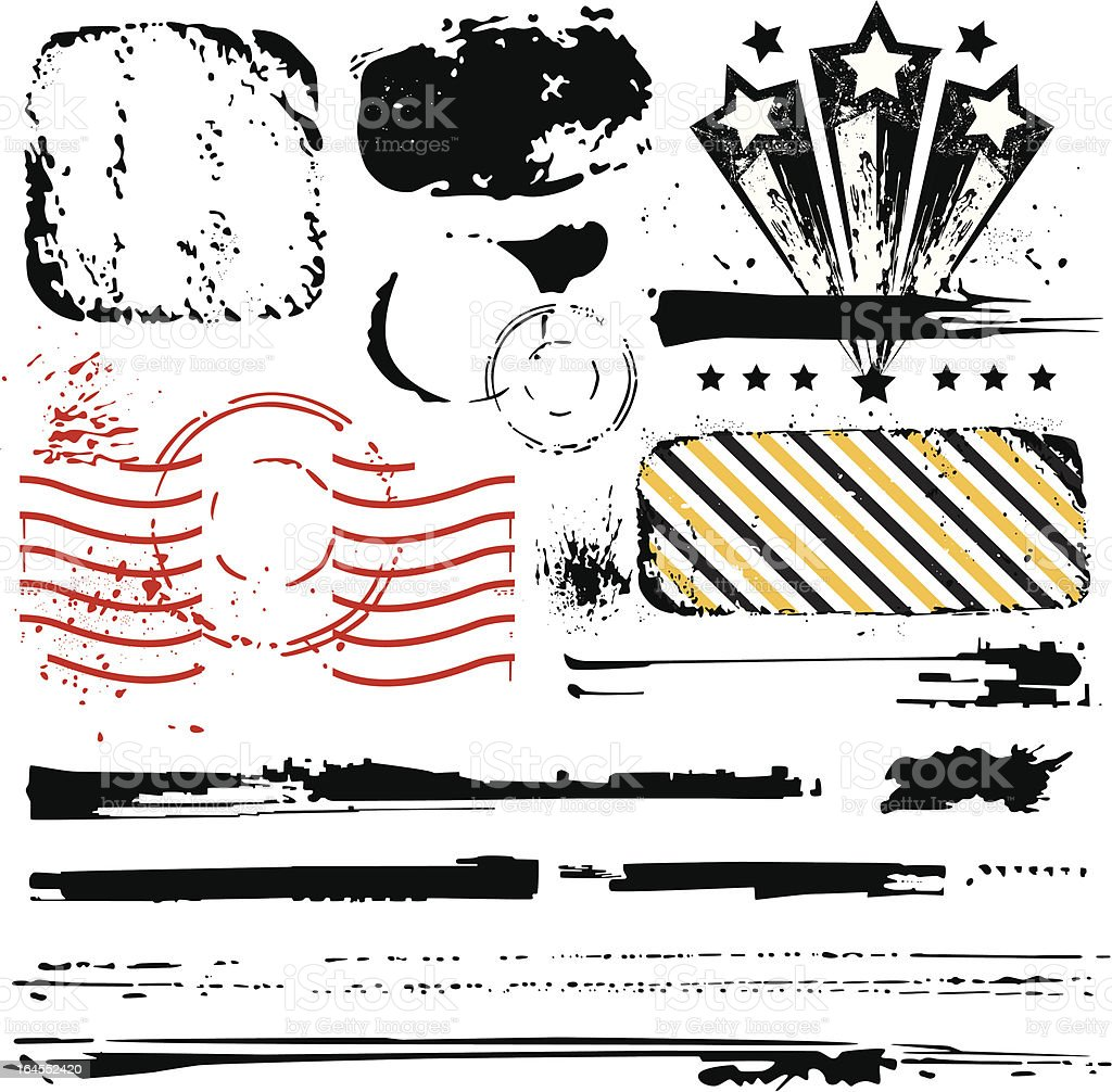 Grunge Design Elements royalty-free grunge design elements stock vector art & more images of abstract