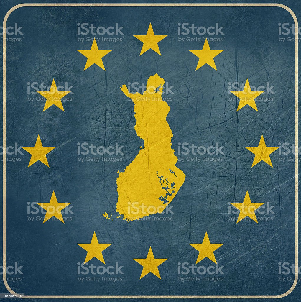 Grunge Finland European button royalty-free stock vector art