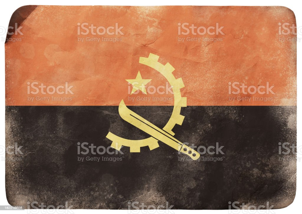Grunge flag of Angola royalty-free stock vector art