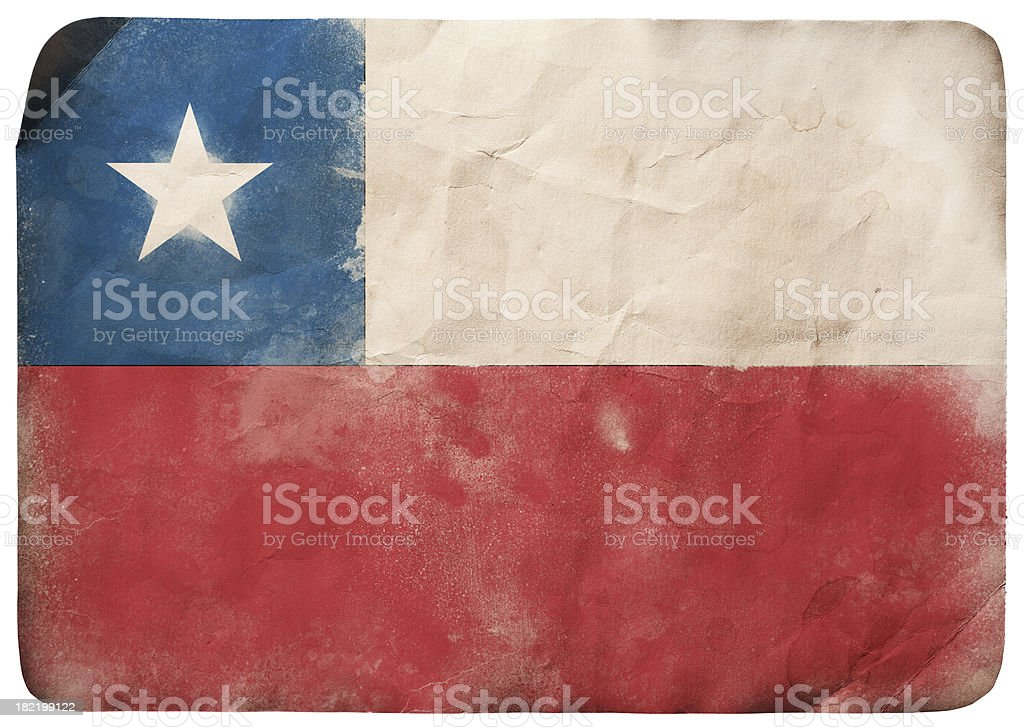 Grunge flag of Chile royalty-free stock vector art