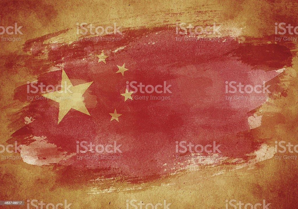 Grunge flag of China royalty-free stock vector art