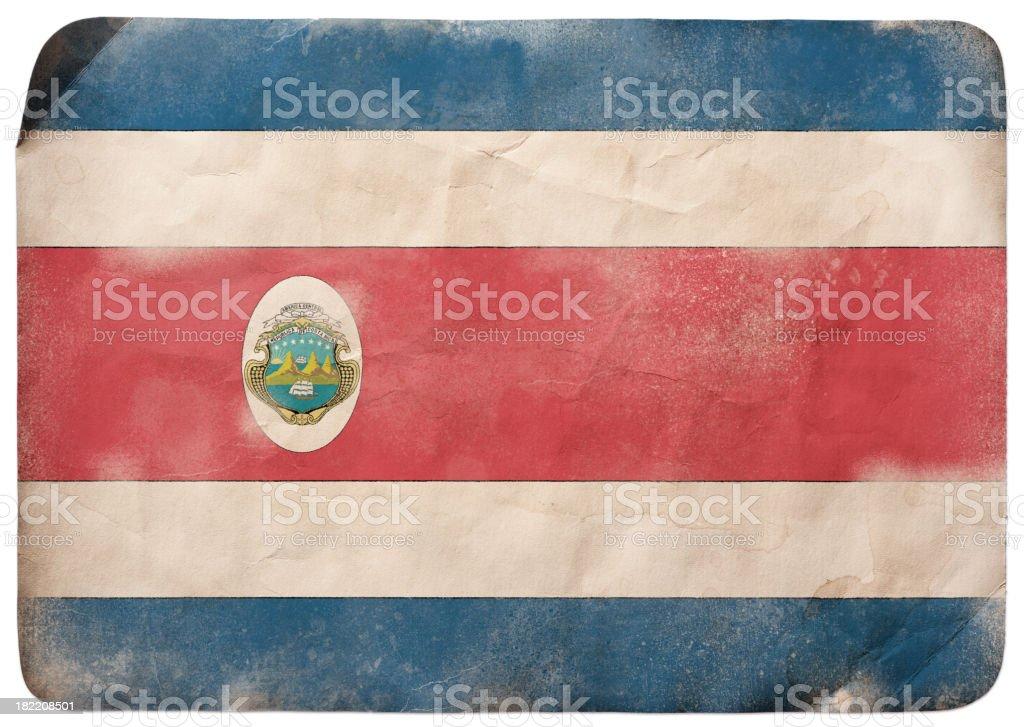 Bandeira de Grunge da Costa Rica - ilustração de arte em vetor