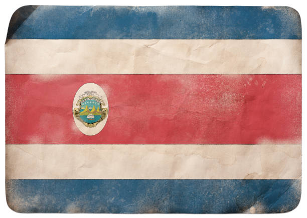 Grunge flag of Costa Rica vector art illustration