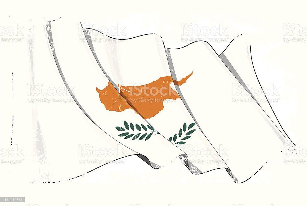 Grunge Flag of Cyprus royalty-free stock vector art