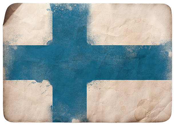 グランジ国旗のフィンランド - フィンランドの国旗点のイラスト素材/クリップアート素材/マンガ素材/アイコン素材