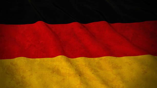 Grunge pavillon de l'Allemagne - Illustration 3D drapeau allemand sale - Illustration vectorielle