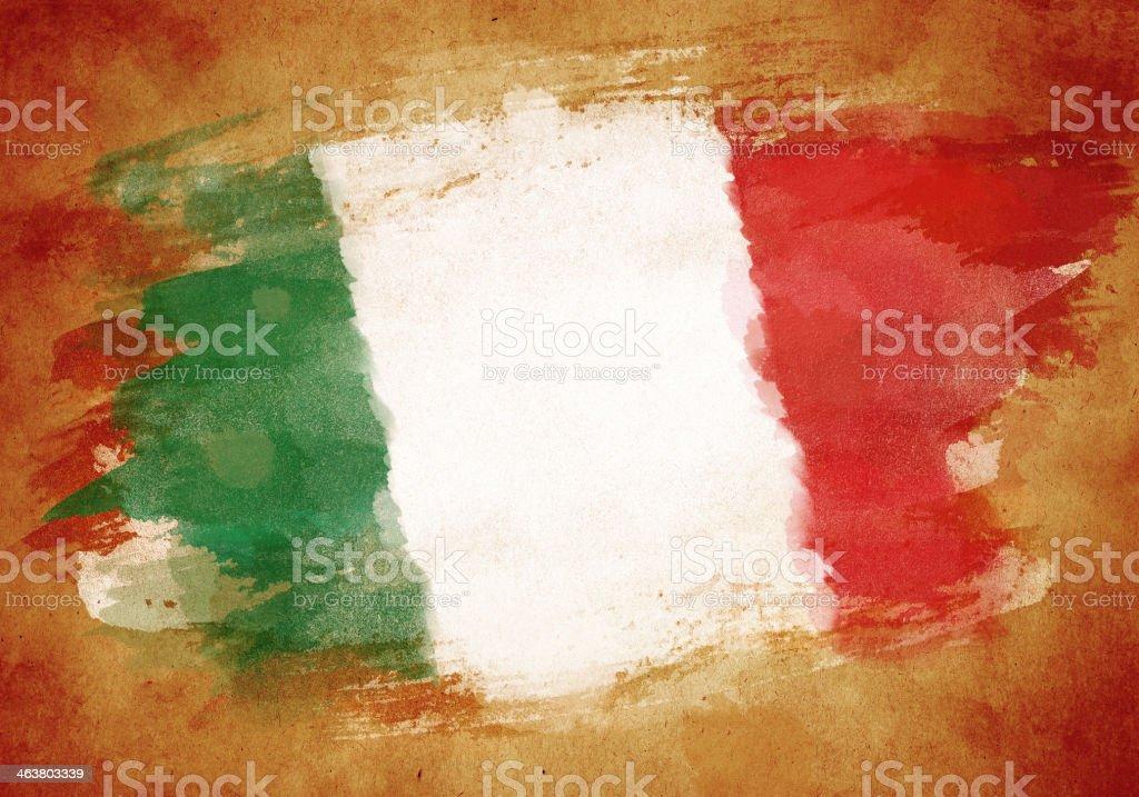 Grunge flag of Italy vector art illustration