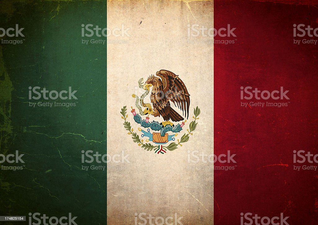 Grunge Flag of Mexico royalty-free grunge flag of mexico stock vector art & more images of bad condition