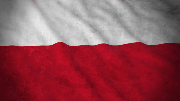 grunge flag of poland - dirty polish flag 3d illustration - polish flag stock illustrations, clip art, cartoons, & icons