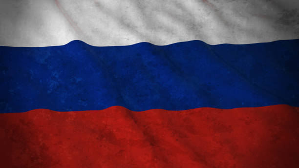 grunge flag of russia - dirty russian flag 3d illustration - russian flag stock illustrations, clip art, cartoons, & icons