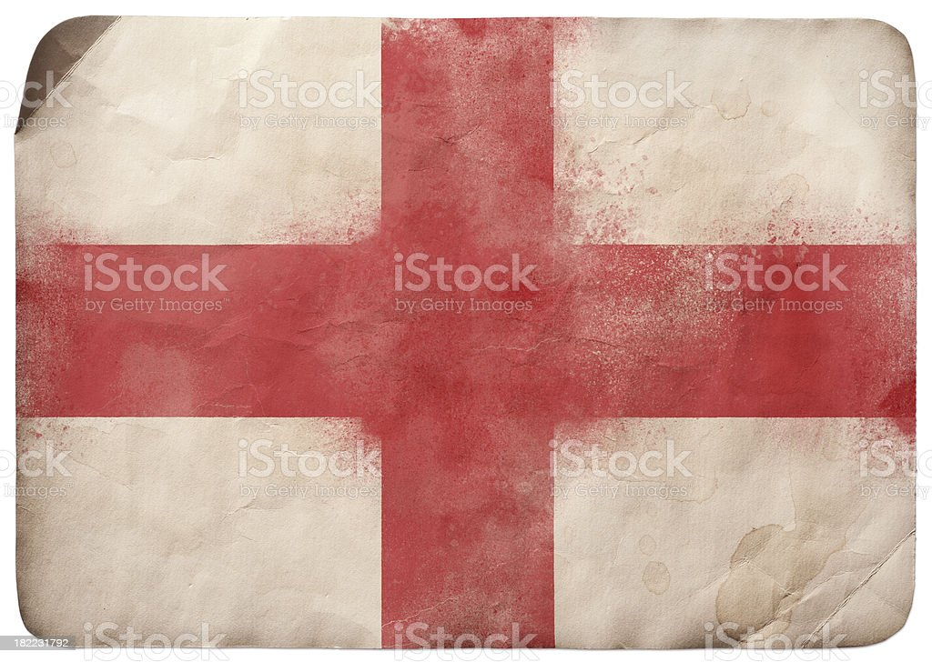 Grunge flag on England royalty-free stock vector art