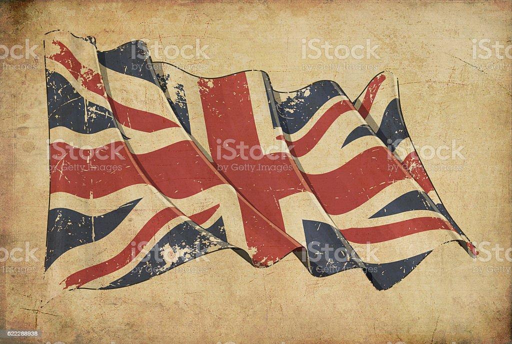 UK Grunge Flag Textured Background Wallpaper vector art illustration