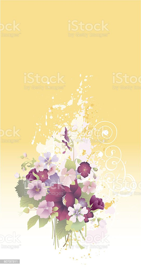 Grunge floral composition - Royalty-free Abstract stock vector