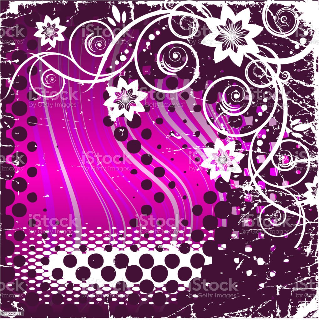 Grunge floral design royalty-free stock vector art