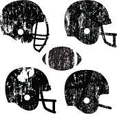 Grunge Football Helmets