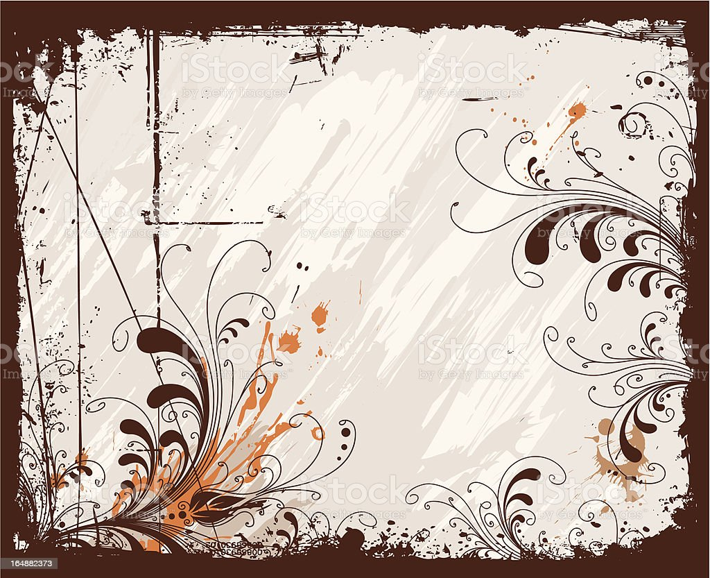 Grunge frame royalty-free stock vector art