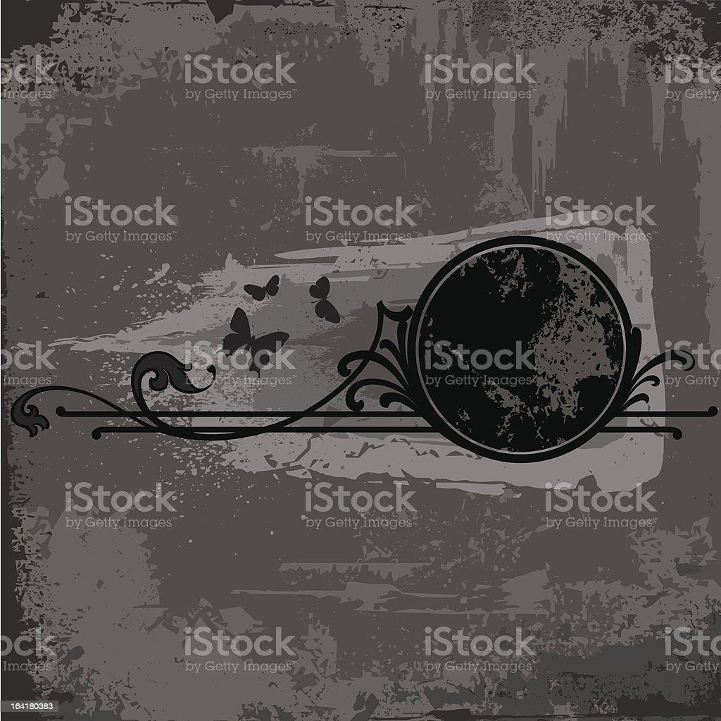 grunge frame or background royalty-free stock vector art