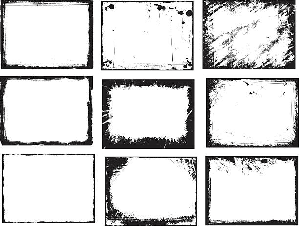 ilustrações, clipart, desenhos animados e ícones de grunge com quadros - exposto ao tempo
